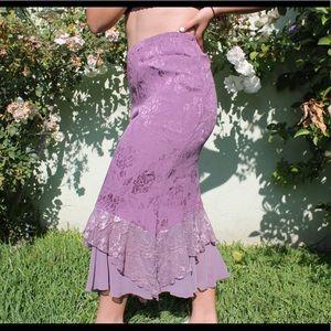 VINTAGE purple maxi skirt